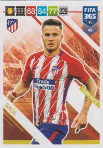 Adrenalyn XL FIFA 365 2019 - 042  Saúl (Atlético de Madrid) Team Mate