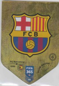 Adrenalyn XL FIFA 365 2019 - 046  Club Badge (FC Barcelona) Club Badge