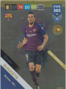 Adrenalyn XL FIFA 365 2019 - 048  Sergio Busquets (FC Barcelona) Fans' Favourite