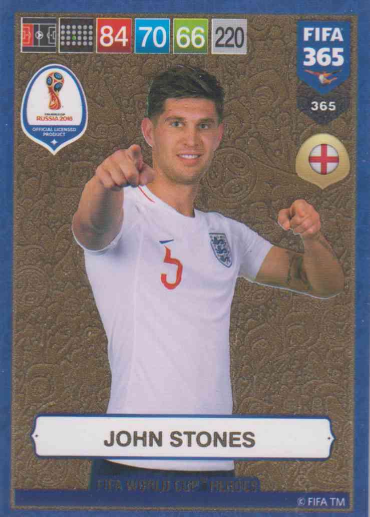 watch eed59 3a1e6 Adrenalyn XL FIFA 365 2019 - 365 John Stones (England) FIFA World Cup Heroes