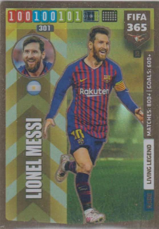 Adrenalyn XL FIFA 365 2020 - 002 Lionel Messi  - FC Barcelona - Living Legend