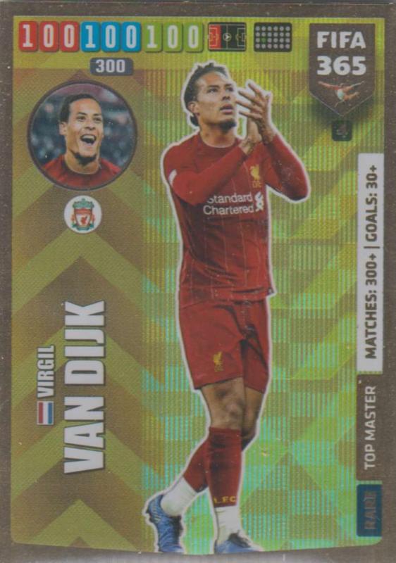 Adrenalyn XL FIFA 365 2020 - 004 Virgil van Dijk  - Liverpool - Top Master