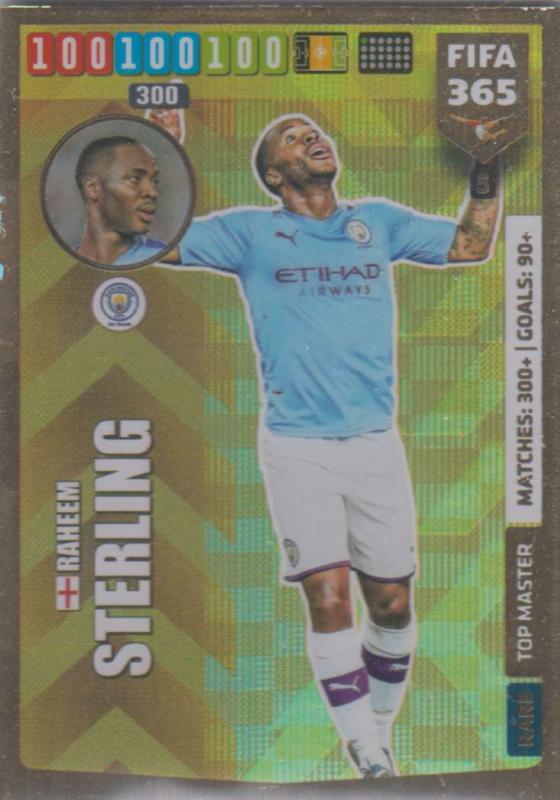 Adrenalyn XL FIFA 365 2020 - 005 Raheem Sterling  - Manchester City - Top Master