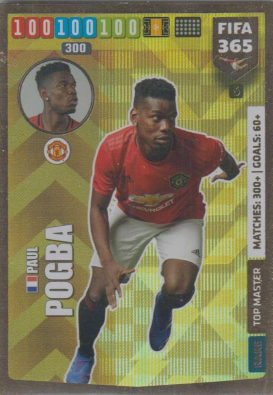 Adrenalyn XL FIFA 365 2020 - 006 Paul Pogba  - Manchester United - Top Master