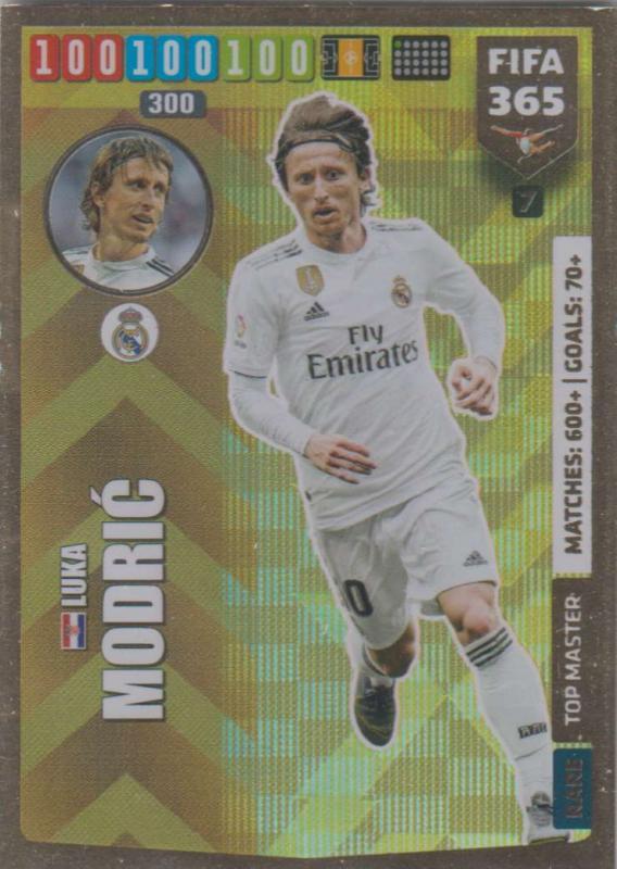 Adrenalyn XL FIFA 365 2020 - 007 Luka Modric  - Real Madrid CF - Top Master