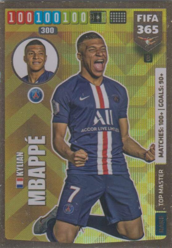Adrenalyn XL FIFA 365 2020 - 008 Kylian Mbappé  - Paris Saint-Gernain - Top Master