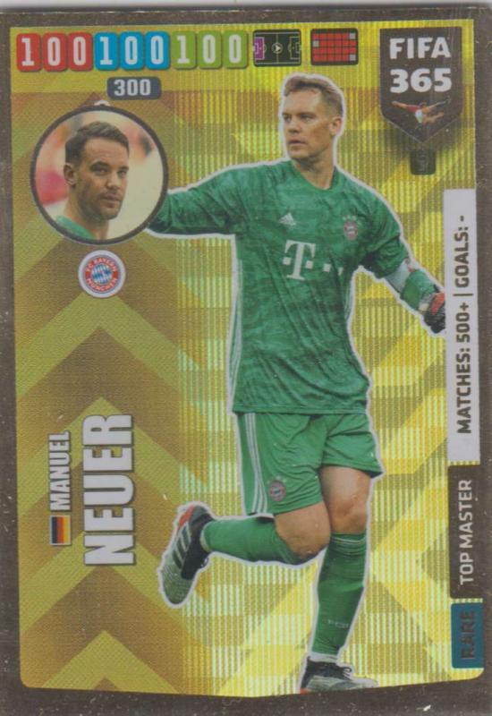 Adrenalyn XL FIFA 365 2020 - 009 Manuel Neuer  - FC Bayern München - Top Master