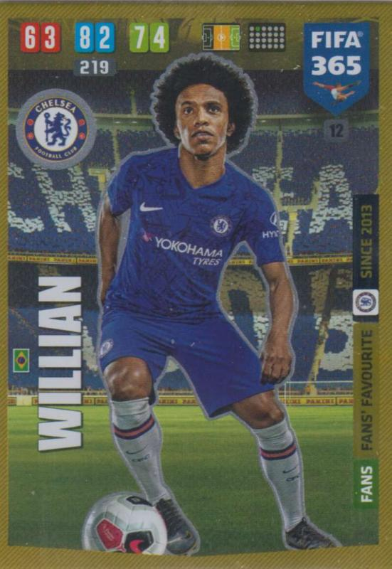 Adrenalyn XL FIFA 365 2020 - 012 Willian  - Chelsea - Fans' Favourite