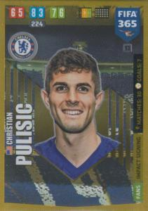 Adrenalyn XL FIFA 365 2020 - 013 Christian Pulisic  - Chelsea - Impact Signing