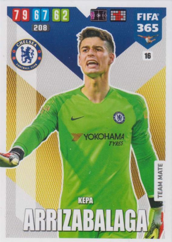 Adrenalyn XL FIFA 365 2020 - 016 Kepa Arrizabalaga  - Chelsea - Team Mate