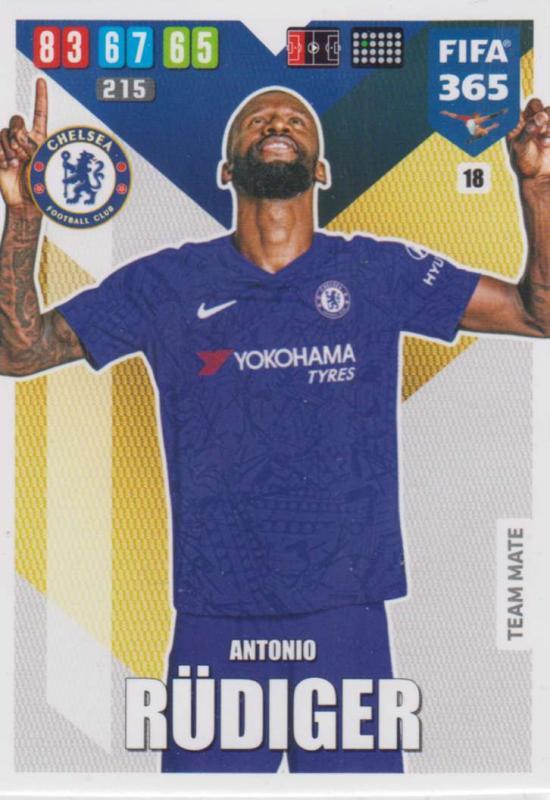 Adrenalyn XL FIFA 365 2020 - 018 Antonio Rüdiger  - Chelsea - Team Mate