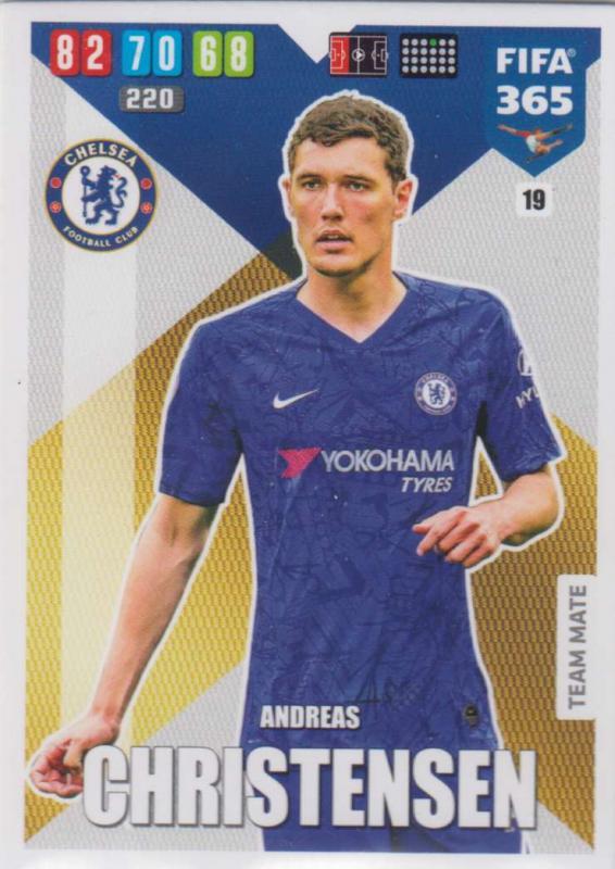 Adrenalyn XL FIFA 365 2020 - 019 Andreas Christensen  - Chelsea - Team Mate
