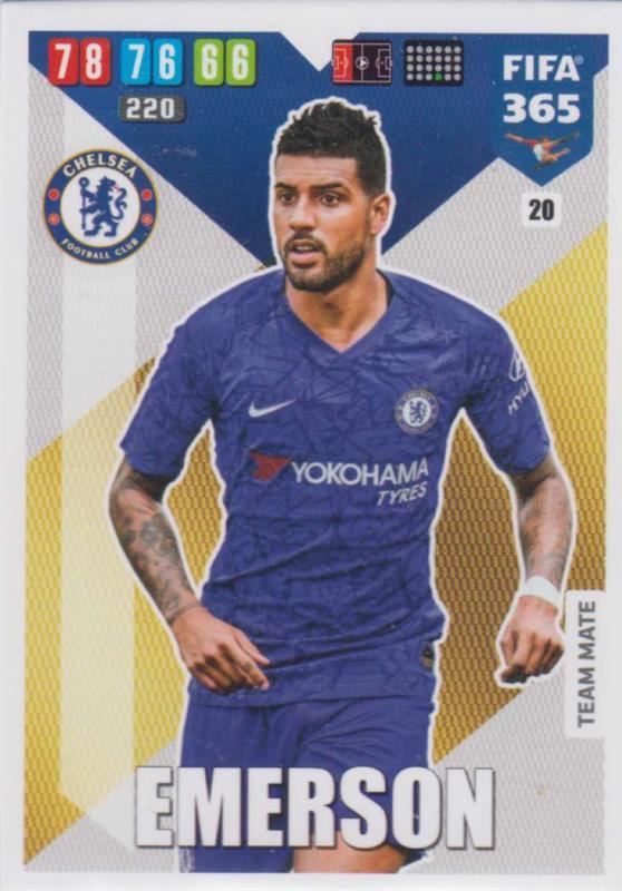 Adrenalyn XL FIFA 365 2020 - 020 Emerson  - Chelsea - Team Mate