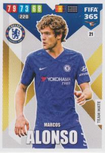 Adrenalyn XL FIFA 365 2020 - 021 Marcos Alonso  - Chelsea - Team Mate