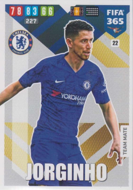 Adrenalyn XL FIFA 365 2020 - 022 Jorginho  - Chelsea - Team Mate