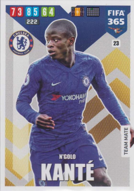 Adrenalyn XL FIFA 365 2020 - 023 N'Golo Kante  - Chelsea - Team Mate