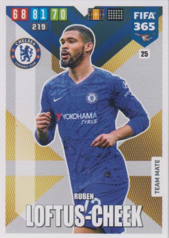 Adrenalyn XL FIFA 365 2020 - 025 Ruben Loftus-Cheek  - Chelsea - Team Mate