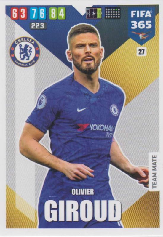 Adrenalyn XL FIFA 365 2020 - 027 Olivier Giroud  - Chelsea - Team Mate