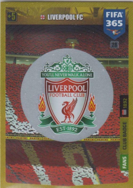Adrenalyn XL FIFA 365 2020 - 028 Club Badge  - Liverpool - Club Badge