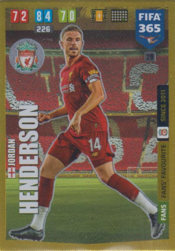 Adrenalyn XL FIFA 365 2020 - 029 Jordan Henderson  - Liverpool - Fans' Favourite