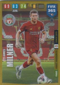 Adrenalyn XL FIFA 365 2020 - 031 James Milner  - Liverpool - Fans' Favourite