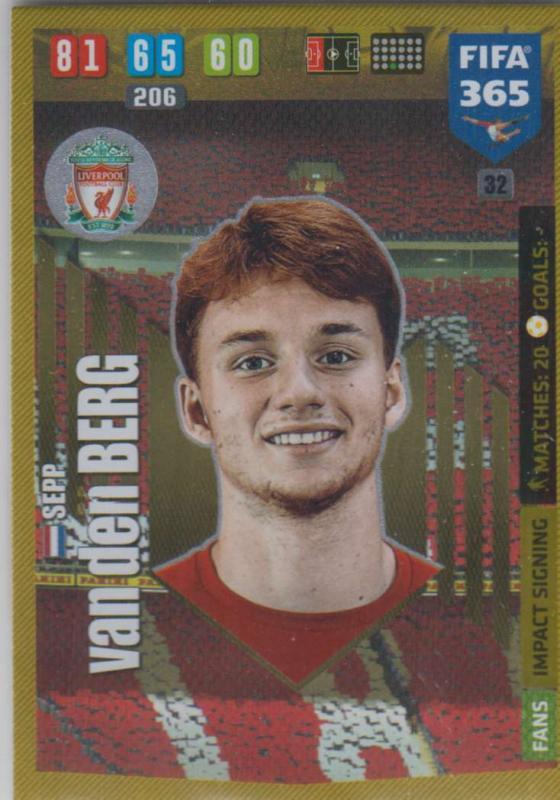 Adrenalyn XL FIFA 365 2020 - 032 Sepp van den Berg  - Liverpool -  Impact Signing