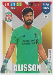 Adrenalyn XL FIFA 365 2020 - 034 Alisson  - Liverpool - Team Mate