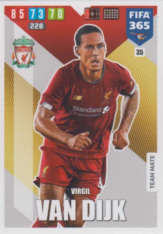 Adrenalyn XL FIFA 365 2020 - 035 Virgil van Dijk  - Liverpool - Team Mate