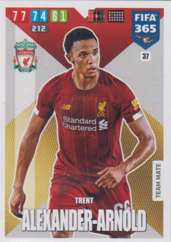 Adrenalyn XL FIFA 365 2020 - 037 Trent Alexander-Arnold  - Liverpool - Team Mate