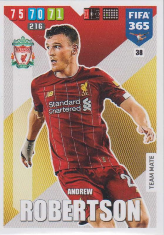 Adrenalyn XL FIFA 365 2020 - 038 Andrew Robinson  - Liverpool - Team Mate