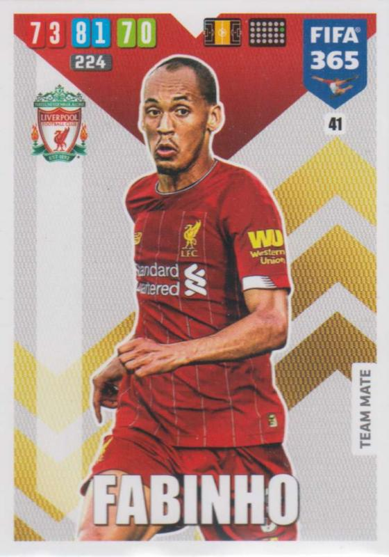 Adrenalyn XL FIFA 365 2020 - 041 Fabinho  - Liverpool - Team Mate