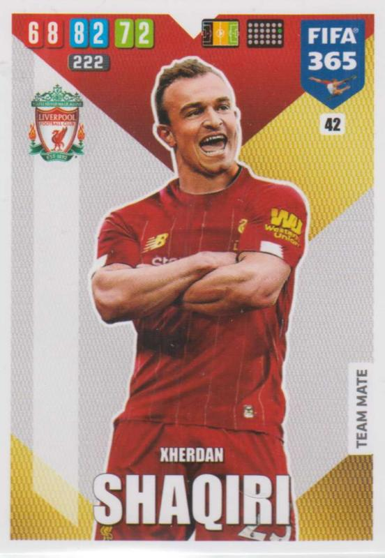 Adrenalyn XL FIFA 365 2020 - 042 Xherdan Shaqiri  - Liverpool - Team Mate