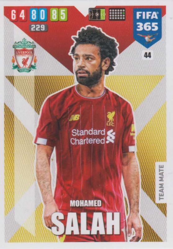 Adrenalyn XL FIFA 365 2020 - 044 Mohamed Salah  - Liverpool - Team Mate