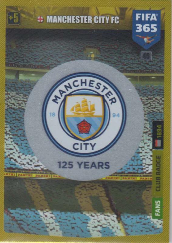 Adrenalyn XL FIFA 365 2020 - 046 Club Badge  - Manchester City - Club Badge