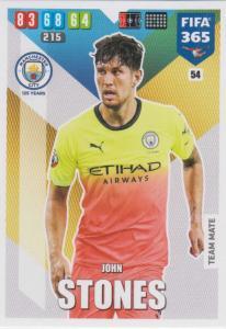 Adrenalyn XL FIFA 365 2020 - 054 John Stones  - Manchester City - Team Mate