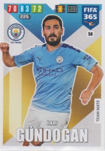 Adrenalyn XL FIFA 365 2020 - 056 İlkay Gündoğan  - Manchester City - Team Mate