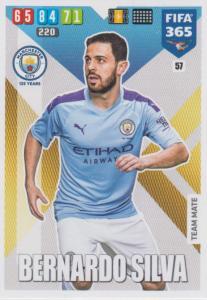 Adrenalyn XL FIFA 365 2020 - 057 Bernardo Silva  - Manchester City - Team Mate