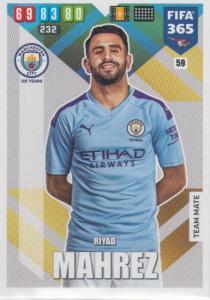 Adrenalyn XL FIFA 365 2020 - 059 Riyad Mahrez  - Manchester City - Team Mate