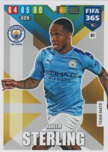 Adrenalyn XL FIFA 365 2020 - 061 Raheem Sterling  - Manchester City - Team Mate