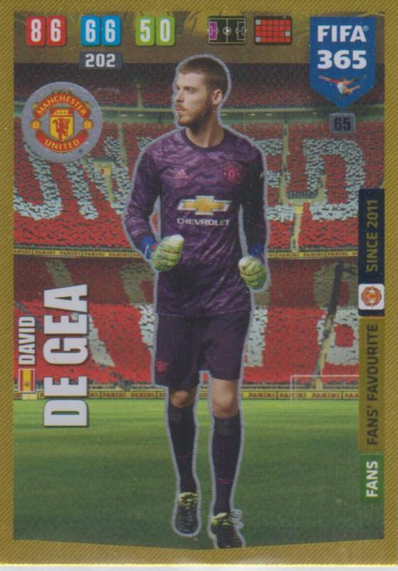 Adrenalyn XL FIFA 365 2020 - 065 David De Gea  - Manchester United - Fans' Favourite