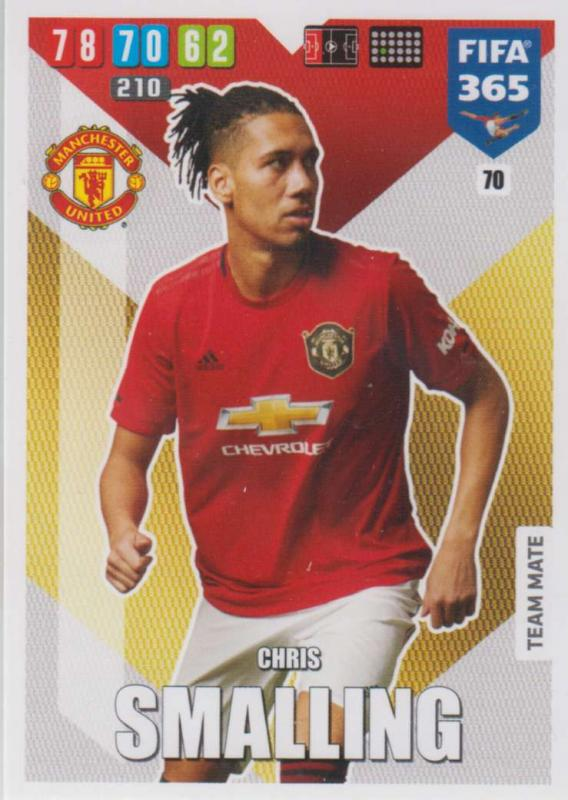 Adrenalyn XL FIFA 365 2020 - 070 Chris Smalling  - Manchester United - Team Mate