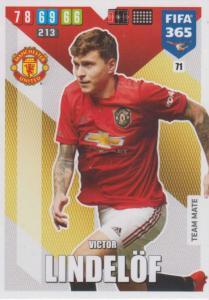Adrenalyn XL FIFA 365 2020 - 071 Victor Lindelöf  - Manchester United - Team Mate
