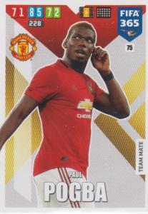 Adrenalyn XL FIFA 365 2020 - 075 Paul Pogba  - Manchester United - Team Mate