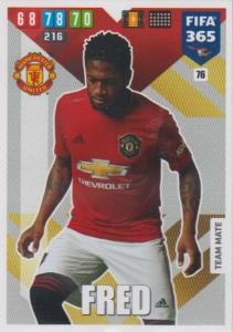 Adrenalyn XL FIFA 365 2020 - 076 Fred  - Manchester United - Team Mate