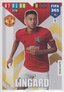 Adrenalyn XL FIFA 365 2020 - 077 Jesse Lingard  - Manchester United - Team Mate