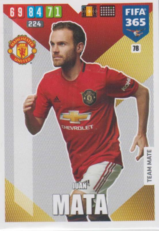 Adrenalyn XL FIFA 365 2020 - 078 Juan Mata  - Manchester United - Team Mate