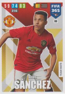 Adrenalyn XL FIFA 365 2020 - 080 Alexis Sánchez  - Manchester United - Team Mate