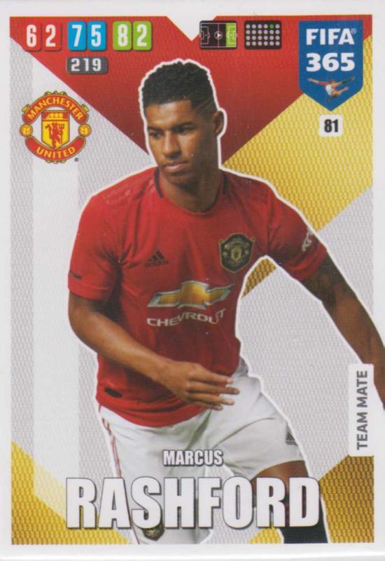 Adrenalyn XL FIFA 365 2020 - 081 Marcus Rashford  - Manchester United - Team Mate