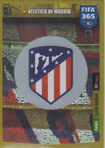 Adrenalyn XL FIFA 365 2020 - 082 Club Badge  - Club Atlético de Madrid - Club Badge