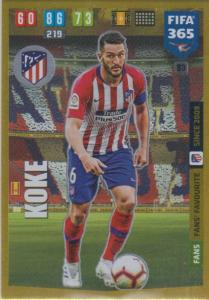 Adrenalyn XL FIFA 365 2020 - 083 Koke  - Club Atlético de Madrid - Fans' Favourite